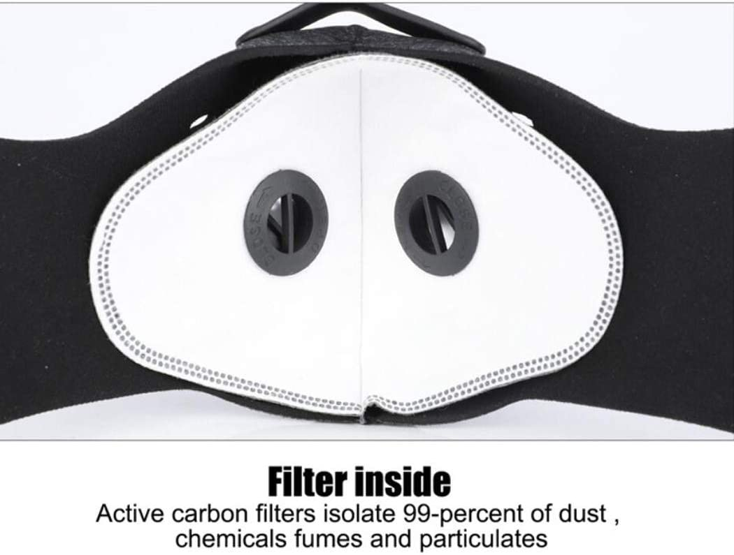ZUYOKI Cycling Face Half Cover Carbono antipolvo al aire libre Running Faire Shield Faire con tres filtros Gris