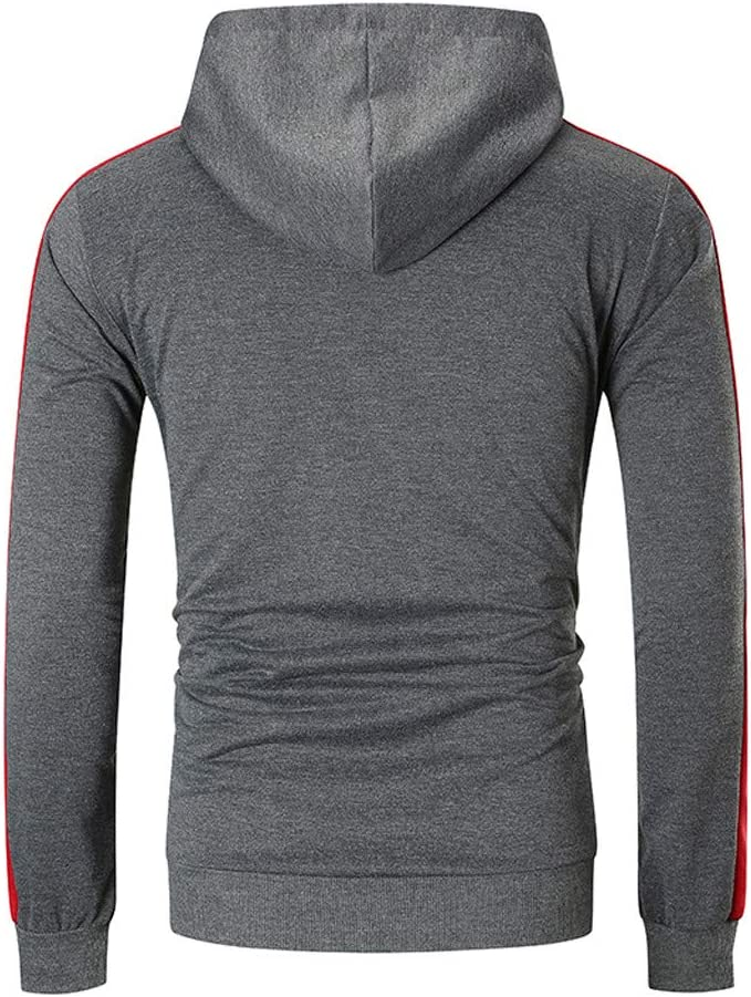 Beppter Mens Hoodies Pullover Casual Sports Outwear Sweatshirts with Pockets Dark Gray,US Size L = Tag XL