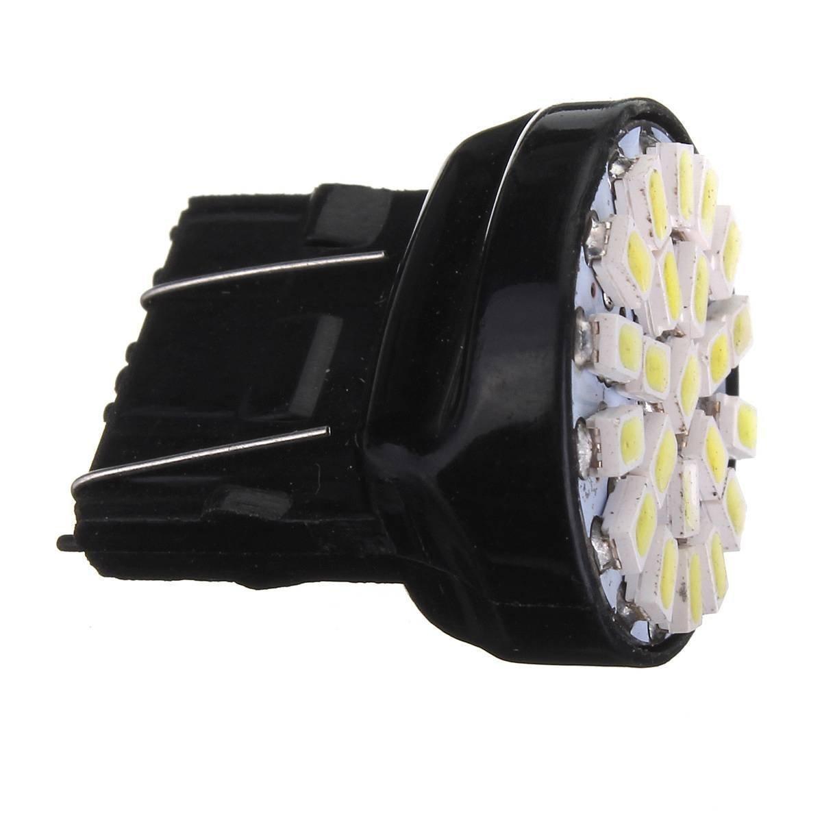 SODIAL(R)2x 2W T25 3157 22 LED Brake Lights Position Indicator Stop P27 / 5W Car Bulb Auto Lamp 100-150LM DC 12V White 6000-6500K 072639