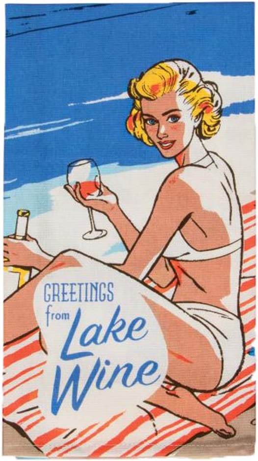 BlueQ Lake Wine torchon /à Vaisselle