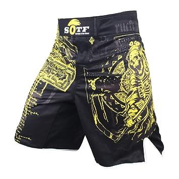 b8d3351f6c84 frikimanes Pantalones Cortos Shorts Modelo La Muerte Ideal MMA K-1 ...