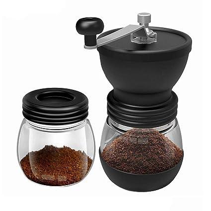 Molinillo de café manual, Molino portátil de café en grano Con rebabas de cerámica y