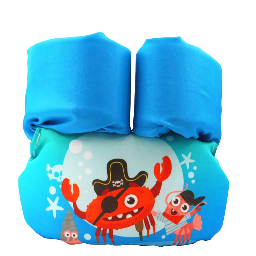 Toddler Kids Swim Life Vest,Baby Swim Float Jacket Swimming Training Life Jacket,Kids Flotation Device,Swim Aid Floater,30-50 lbs (Pirate Crab)