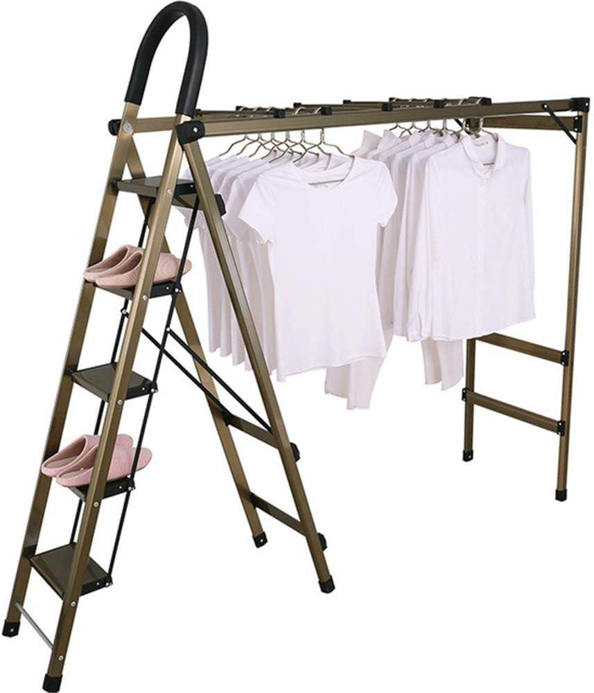 Angela Escaleras de peldaños de Secado de Ropa, Ropa de aireador Plegable portátil, Escalera de Cinco Pasos de aleación de Aluminio, Peso del rodamiento de 150 kg, para Interiores y Exteriores: Amazon.es: