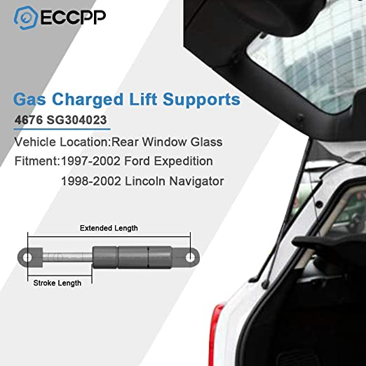 Amazon Com Eccpp Rear Window Glass Lift Supports Gas Struts Shocks Springs For 1997 2002 Ford Expedition 1998 2002 Lincoln Navigator Set Of 2 Automotive