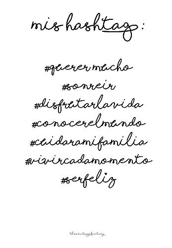 Lámina decorativa para enmarcar A4mis hashtag: Amazon.es: Handmade