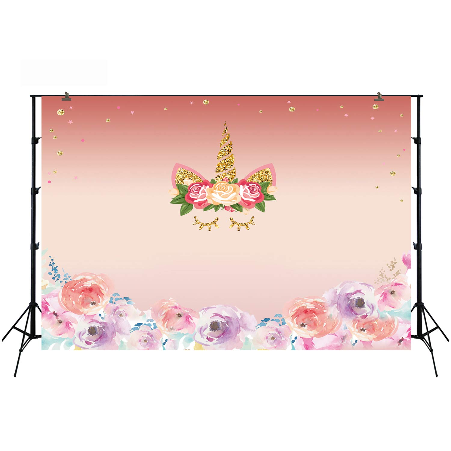 6.5x5ft Baby Shower Pink Cartoon Happy Birthday Photography Backdrops Photo Background Party Wall Decoration W-331