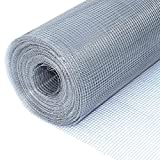 ALEKO Mesh Wire Roll Cloth 23 Gauge Steel 100 Feet Long 48 Inch Height 1/4 Inch Mesh
