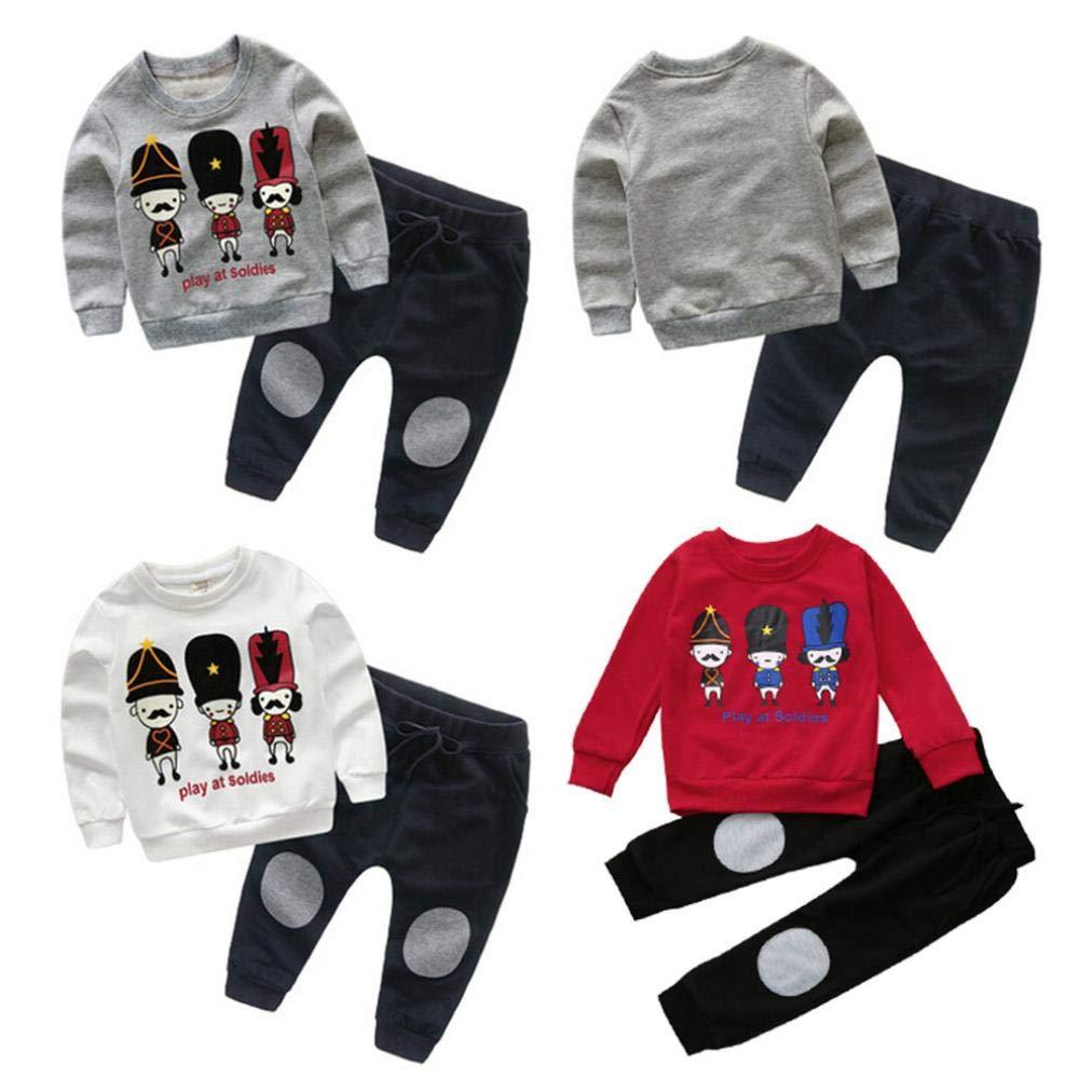 Bambina 18 Mesi Abbigliamento Completino Bambino Completini Per Bambini Vestiti 0-24 Mesi Bambini Bambino Ragazza Pullover Felpa Magliette + Pantaloni Abiti Set Morwind