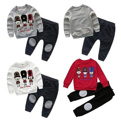 Bambina 18 Mesi Abbigliamento Completino Bambino Completini Per Bambini  Vestiti 0-24 Mesi Bambini Bambino Ragazza Pullover Felpa Magliette +  Pantaloni Abiti ... d5534102d49