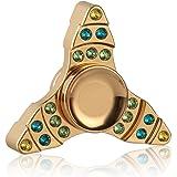 MixMart Hand Spinner Fidget Spinner ハンドスピナー 指スピナー おもちゃ TOY セラミックのボールベアリング 超耐久性の高速度 2〜3分平均スピン (金三角)