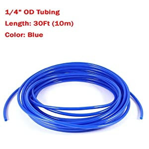 cck cck-2 Malida Size 1/4 Inch, 10 Meters 30 feet Length Tubing Hose Pipe for RO Water Filter System (blue)