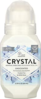product image for Crystal Mineral Body Deodorant Roll-On, Unscented 2 oz