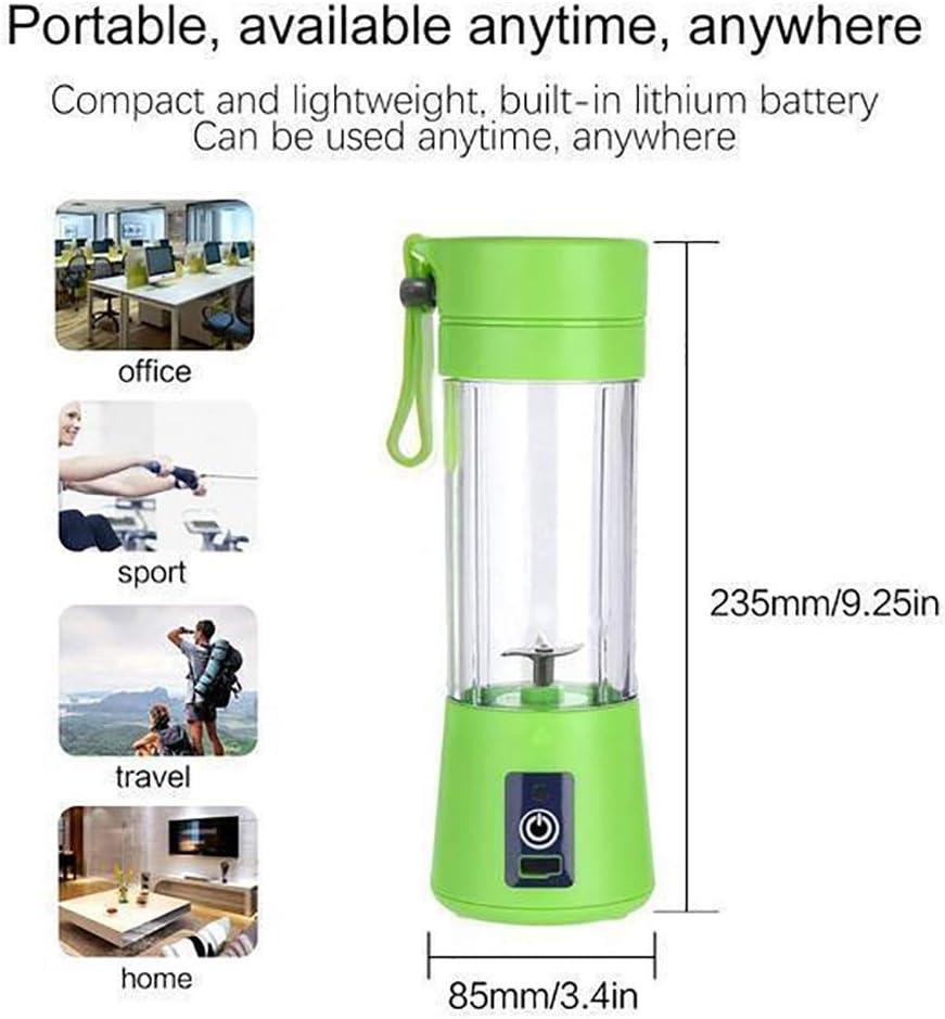 Mini M/élangeur Portable 500ml Juicer Blender Fruit Mixing Machine avec C/âble Chargeur USB 4 lames pour Superbe Mixte Coupe Amovible vert