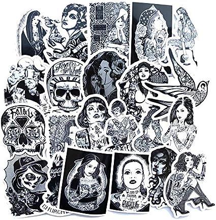 YLGG Dibujos Animados Animado Graffiti Etiqueta Maleta Maleta ...