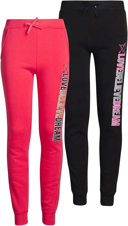 7//8 Love Believe Dream, 2 Pack Real Love Girls Fleece Active Jogger Pants