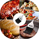 RWM Basting Brush - Grilling BBQ Baking, Pastry, and Oil Stainless Steel Brush with Back up Silicone Brush Heads(Orange) for Kitchen Cooking & Marinating, Dishwasher Safe 16 RWM bbq basting brush is built to coat your food with more flavor. It can seamlessly bring your choice of oil, melted butter, marinades and sauces directly to what is on the grill and lock in the flavor. The brush handle is constructed of polished stainless steel for durability, providing a comfortable grip. Ideal length and weight design puts less burden on wrist, no tireness in long time basting during grilling. No shedding, bristle free. The silicone basting brush head is one single part with bristles, which will never fall off on your food. With its dense bristles, the silicone brush gains high performance in holding and retaining oil, sauce, marinade, cooking juice and more.