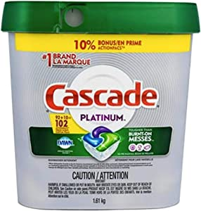Cascade Platinum ActionPacs Dishwasher Detergent with Dawn, Fresh Scent - 102 Count