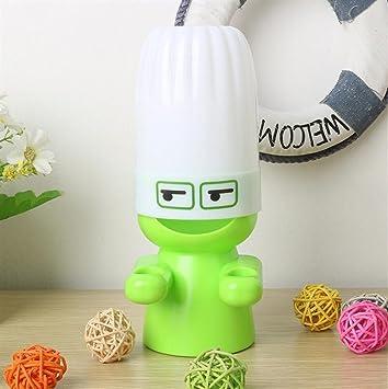 Heelinna Casa 1 Unid Lindo Cepillo de Dientes de Dibujos Animados Sostenedor de Cepillo de Dientes Soporte de Enjuague Taza Set (Color : Green): Amazon.es: ...