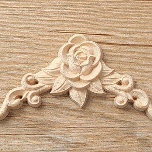 LQNB 10 pz Floreale in Legno Intagliato Decal Angolo Applique Decorare Cornice in Legno Figurine gabinetto Artigianato Decorativo