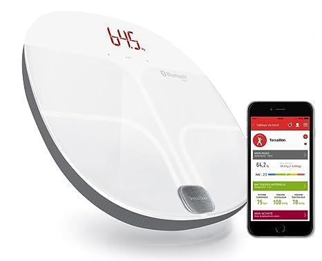 Terraillon báscula conectable, para smartphone/tablet, 8 memorias usuarios, Bluetooth Smart,