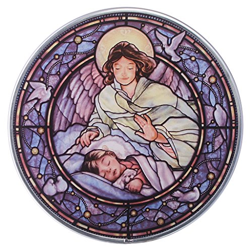 Stained Glass Panel - Little Girl Guardian Angel Stained Glass