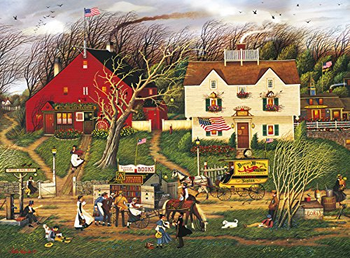 House 1000 Piece Puzzle (Buffalo Games - Charles Wysocki - Fireside Companions - 1000 Piece Jigsaw Puzzle)