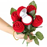 Fuddy-Duddy Beautiful Plastic Red Rose Ring Box For Love (Anniversary) For Unisex