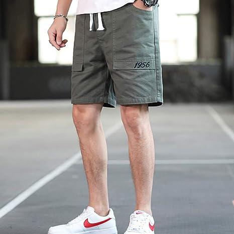 NGRDX&G Bermuda Pantalones Cortos De Carga para Hombre Pantalones Cortos Hombres Pantalones Cortos Casuales Sólidos De Algodón Hombres Fondo De Verano 6XL: Amazon.es: Deportes y aire libre