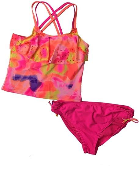 Amazon.com: Conjunto de 2 trajes de baño Ombre para niñas ...