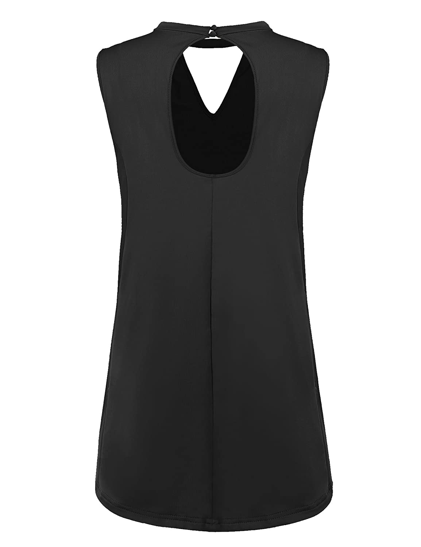 3a6185c02a82c Zeagoo Women s Sleeveless Long Sleeve Hollow Back Tunic Flowy Tank Tops at  Amazon Women s Clothing store