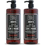 Dead Sea Collection Men's Mineral Face, Hair & Body Wash with Sandal-wood Extract known to sooth the skin, relieve it from ir