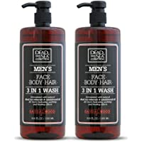 Dead Sea Collection Men's Mineral Face, Hair & Body Wash with Sandal-wood Extract known to sooth the skin, relieve it…