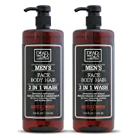 Dead Sea Collection Men's Mineral Face, Hair & Body Wash with Sandal-wood Extract...