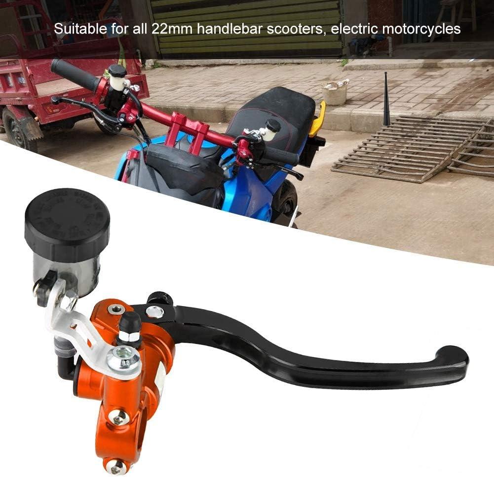 KIMISS 22MM 7//8 pulgadas Izquierda Motocicleta Embrague hidr/áulico Palanca Cilindro maestro Bomba de freno de empuje recto Universal Naranja
