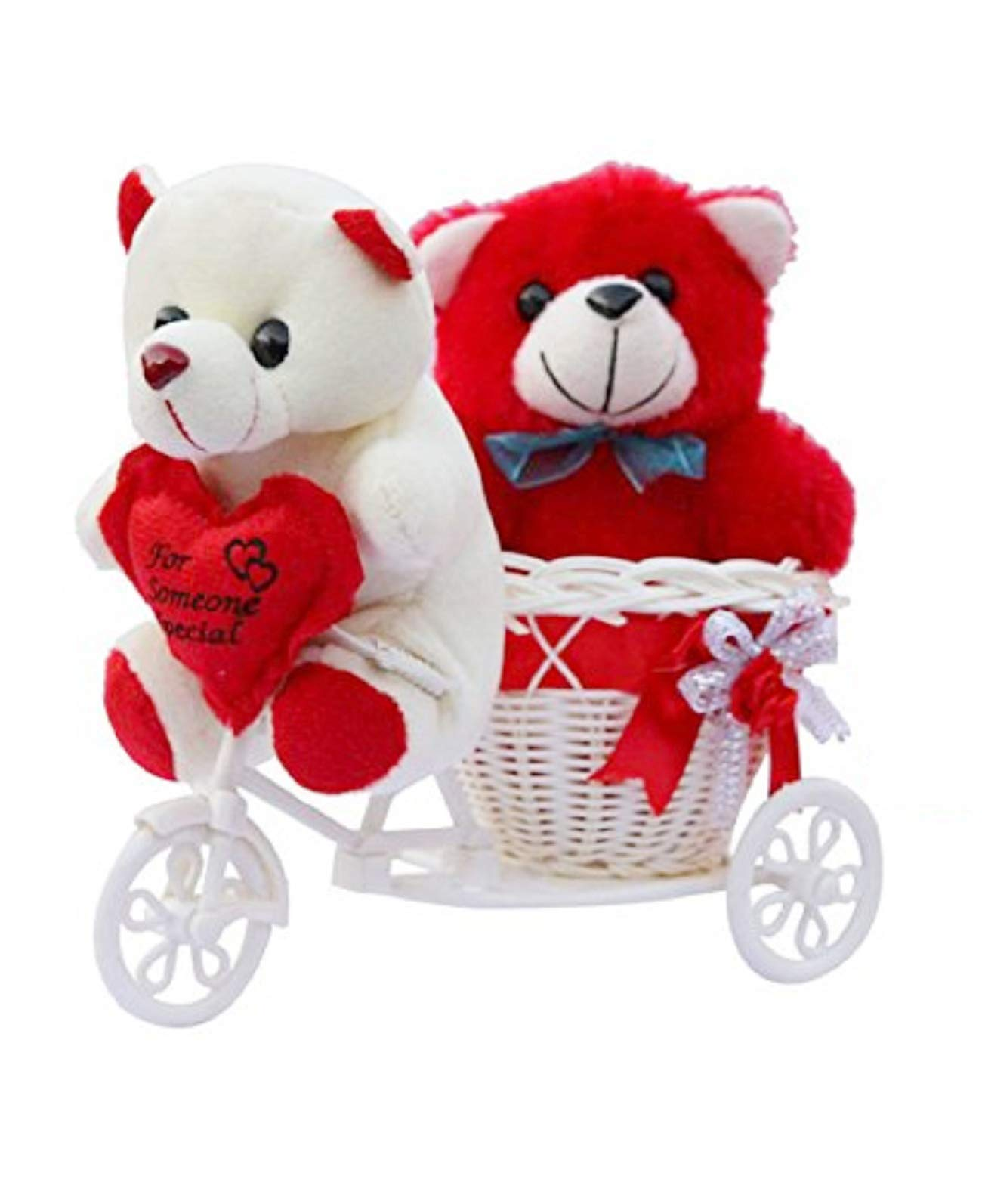 ME & YOU Romantic Cycle Teddy with Printed MDF Keychain Return Gifts for Wife Girlfriend and Sister On Birthday, Anniversary, Rakhi, Valentine's Day IZ18TCyKeyH-001 (B07F37732G) Amazon Price History, Amazon Price Tracker