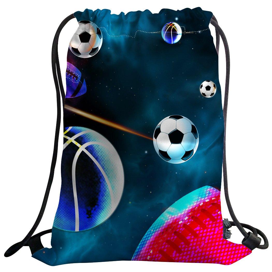 sxchenジムバッグ袋巾着スポーツバックパックバスケットボールサッカー野球Galaxy B07C57QZR4