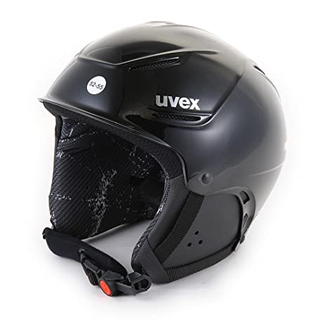 Uvex Plus1 Junior Performance German Made Ski/Snowboard Helmet, Jet Black Glossy, Fully