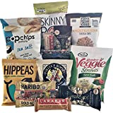 Gluten Free Healthy Snacks Package - Perfect Father's Day Gift for Dad, for Students or Military Care Package - Organic, Non-GMO,Variety Chips, Nuts, Candy & Bars