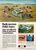 1980 Ad Pride Ranch Hawkeye Steel Waterloo Iowa Creep Feeder Farm Equipment - Original Print Ad