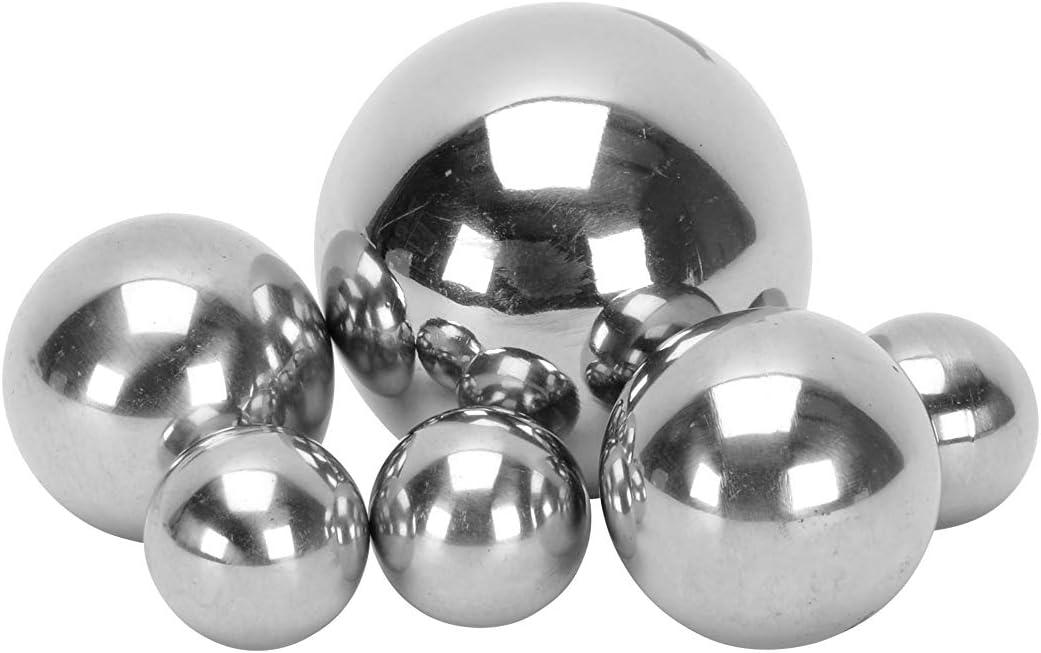 6 und 8cm Ø Ball poliert Schwimmkugel Dekoration Rosenkuge Edelstahlkugel Set 4