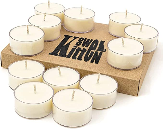 All Natural Handmade Unscented Dye Free Soy Wax 3 Inches X 6 Inches Container Candle Great as a Gift or Center Piece Fits in Any Decor