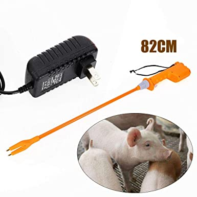 82cm Pig Prod Yellow Hot Shot Prod Shocker Handle Cattle Swine Shaft Rechargeable Livestock Cattle Pig Prod