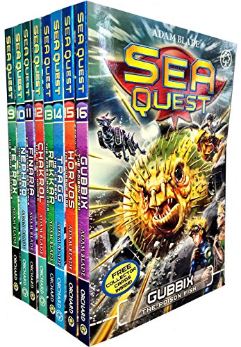 (Sea Quest Series 3 and 4 Collection Adam Blade 8 Books Set (Tetrax, Nephro, Finaria the Savage, Chakrol, Rekkar the Screeching Orca, Tragg the Ice Bear, Horvos the Horror Bird, Gubbix the Poison Fish))