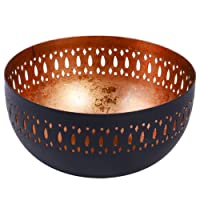 Dibor Black and Copper Decorative Laser Cut Bowl, Perfect for storing keys, displaying Potpourri, or brilliant gift idea for Birthday or Christmas!!