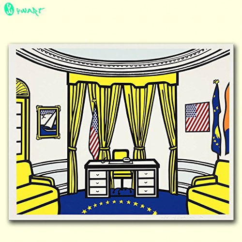 Link Line Large Size Print Oil Painting Wall Painting Oval Office 1992 By Roy Lichtenstein Wall Art Picture For Living Room Painting