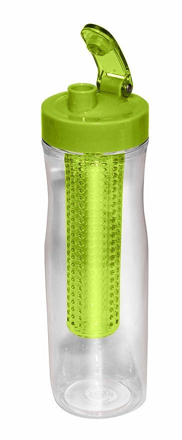Tritan botella Infuser by Vita frutti – Verde – Con Bandeja Para Frutas etc. –