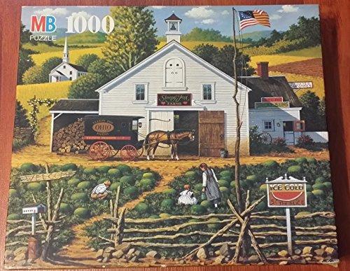 Watermelon Patch by WYSOCKI Charles Wysocki Americana Series 1000 Piece Puzzle Ohio Sleepy Fox Farms