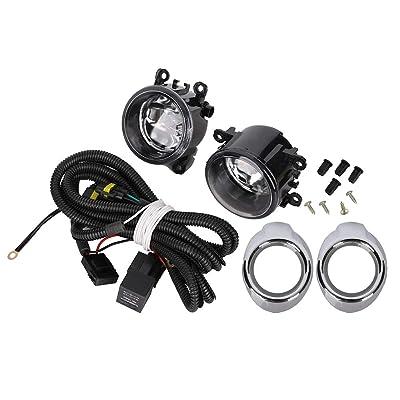 55W Fog Lights Assembly Fog Lamp Clear Lens Bumper Lamp Bulbs w/Harness Bracket Kit for Ford Focus S SE SEL Titanium 2012 2013 2014: Automotive