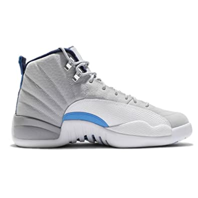 354ca40c2f7c04 Jordan Air 12 Retro Wolf Grey UNC University Blue Men s Shoe Size (7)